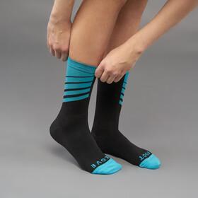 GripGrab Racing Stripes Cycling Socks Black/Blue